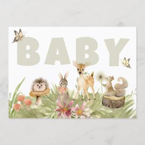*~* Rustic Woodland Forest Animals Baby Shower Invitation