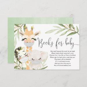 Safari animals masks gender neutral books for baby enclosure card