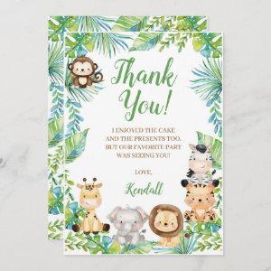 Safari Baby Shower Thank You Card