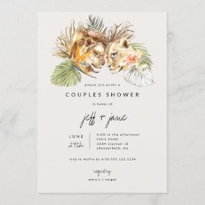 Safari Big Cats Couples Shower Invitation