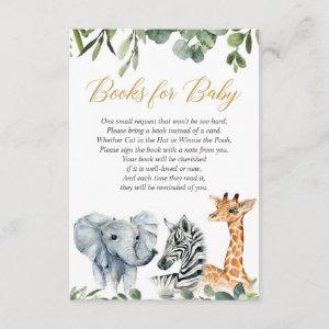 Safari book request, jungle zoo animals watercolor enclosure card