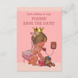 Save The Date Cute Princess on Phone