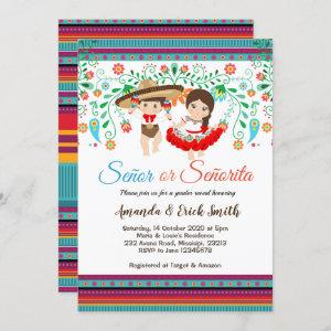 Senor or Senorita Gender Reveal Invitation