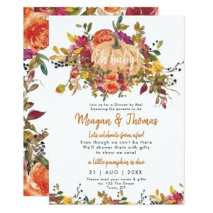 shower by mail from afar pumpkin baby shower invitation