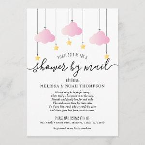 Shower By Mail Long Distance Baby Girl Pink Invitation