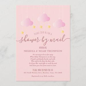 Shower By Mail Long Distance Pink Baby Girl Invitation