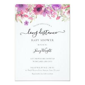 Shower By Mail Long Distance Sprinkle Floral Invitation