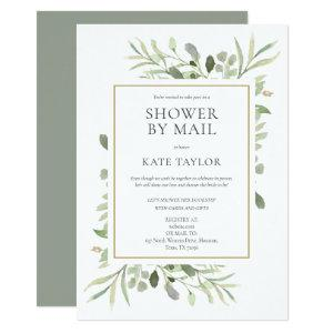 Shower By Mail Long Distance Sprinkle Greenery Invitation