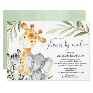 Shower by mail Safari gender neutral baby shower Invitation