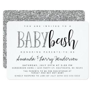 Silver Baby Bash, Couples Baby Shower Invitation