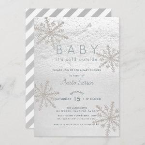 Silver Snowflake Baby Its Cold Outside Baby Shower