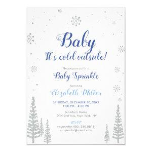 Silver Winter Wonderland - Boy Baby Sprinkle Card
