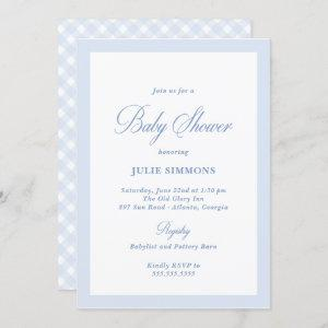 Simple Blue Baby Shower Classic