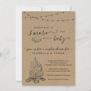 S'mores Couple's Baby Shower Invitation