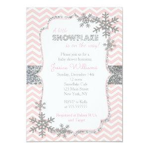Snowflake Winter Baby Shower Invitations