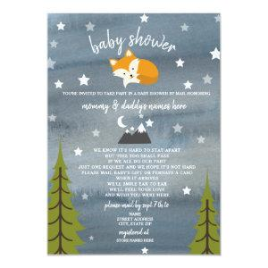 Social Distancing Baby Shower By Mail Fox Invitation