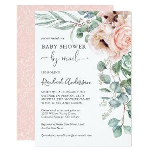 Soft Pastel Baby Shower by Mail Invitation