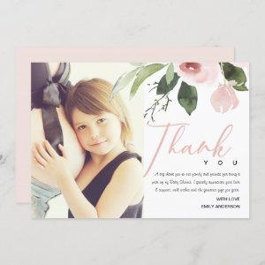 SOFT PINK BLUSH ROSE BABY SHOWER THANK YOU PHOTO