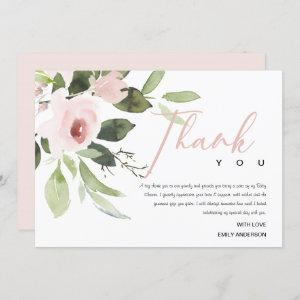 SOFT TRENDY BLUSH PINK ROSE BABY SHOWER THANK YOU