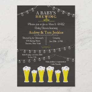 Something's Brewing Baby Shower Invitation