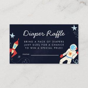 Space Theme Baby Shower Diaper Raffle Ticket Enclosure Card