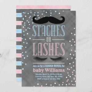 Staches or Lashes gender reveal  ideas