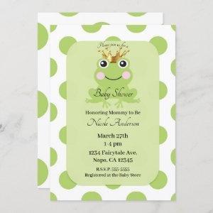 Storybook Fairy Tale Frog Prince Baby Shower Invitation