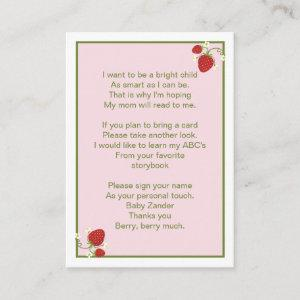 Strawberry Baby Bring a Book Card