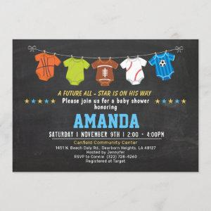 Strong baby Sport baby shower invitation