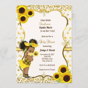 Sunflower baby shower invitation sunflower mask