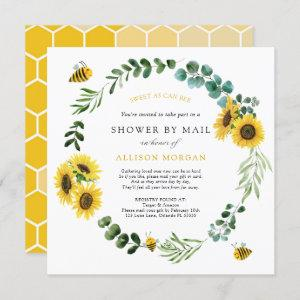 Sunflower Bee Baby Shower by Mail Invitation