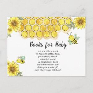 Sunflower Bee Books For Baby Enclosure Card