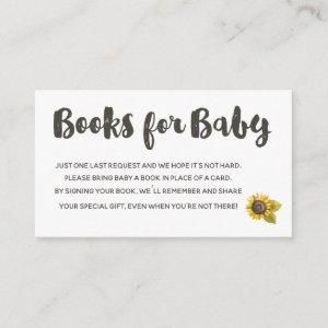 Sunflower Books For Baby Enclosure Card