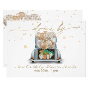Surprise Drive Through Baby Shower Parade 2 Invitation