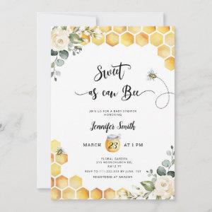 Sweet as can bee baby shower