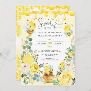Sweet as Can Bee Baby Shower Yellow Roses Sprinkle