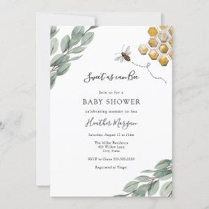 Sweet as can Bee Eucalyptus Baby Shower
