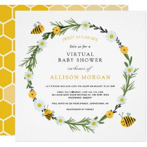 Sweet As Can Bee Virtual Baby Shower Invitation
