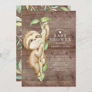 Sweet Baby Sloth Baby Shower