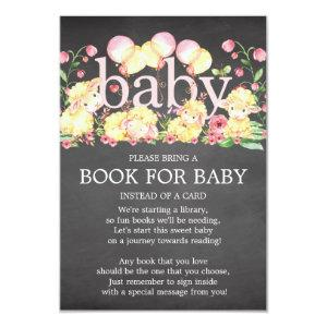 Sweet Little Lamb Baby Shower Book for Baby Invitation