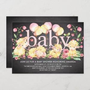 Sweet Little Lamb Baby Shower Invitation