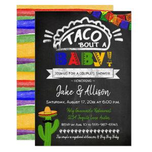 Taco Baby Shower for Couple Invitation