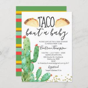 Taco Bout A Baby Cactus Baby Shower Invitation