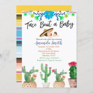 Taco Bout A Baby cactus baby shower Invite boy