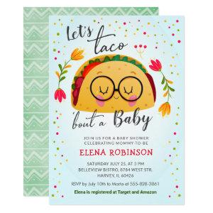Taco Bout a Baby Mexican Fiesta Blue Boy Shower Invitation