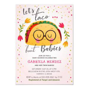 Taco Bout Babies Twin Fiesta Baby Shower Sprinkle Invitation