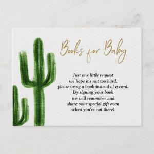 Taco bout baby Cactus Baby Shower Books for Baby  Postcard
