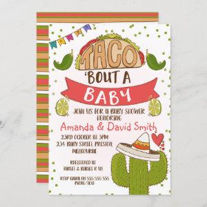 Taco bout Baby Fiesta Theme Baby Shower Invitation