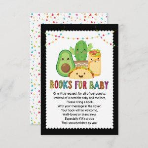 Taco Fiesta Book Request Card, Books For Baby Invitation