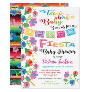 Taco'about a baby Mexican fiesta baby shower Invitation
